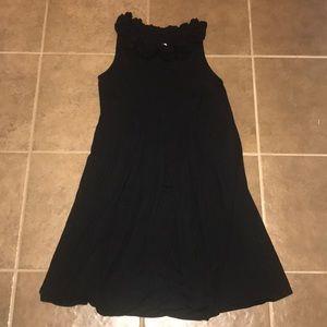 Maggy London Black Pleated Mid Length Dress